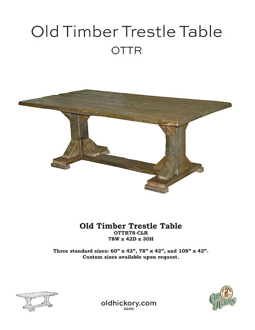 Old Timber Trestle Table - OTTR