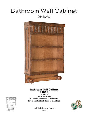 Bathroom Wall Cabinet - OHBWC