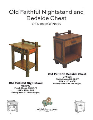 Old Faithful Nightstand & Bedside Chest - OFN100/OFN105