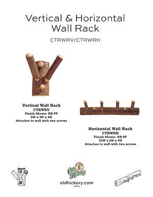 Vertical & Horizontal Wall Racks - CTRWRV/CTRWRH