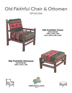 Old Faithful Chair & Ottoman - OF101/OF109