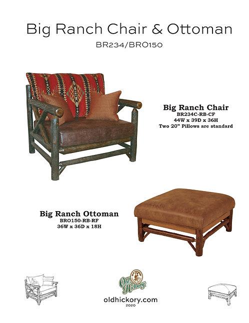Big Ranch Chair & Ottoman - BR234/BRO150