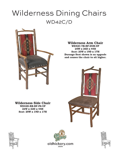 Wilderness Dining Chairs - WD42C/WD42D