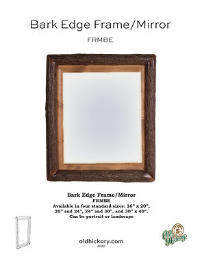 Bark Edge Frame/Mirror - FRMBE