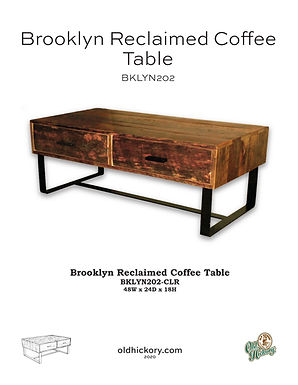 Brooklyn Reclaimed Coffee Table - BKLYN202