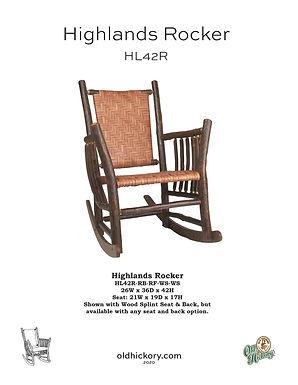 Highlands Rocker - HL42R