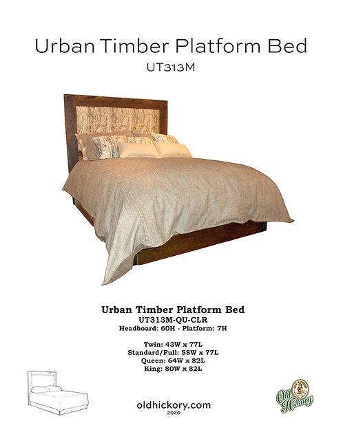 Urban Timber Upholstered Platform Bed - UT313M