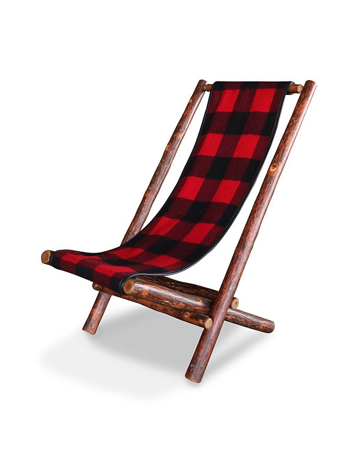Lolo Chair with Woolrich's Buffalo Plaid fabric