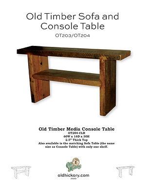 Old Timber Sofa & Media Console - OT203/OT204