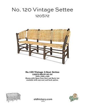 No. 120 Vintage Settee - 120S72