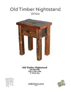 Old Timber Nightstand - OT100