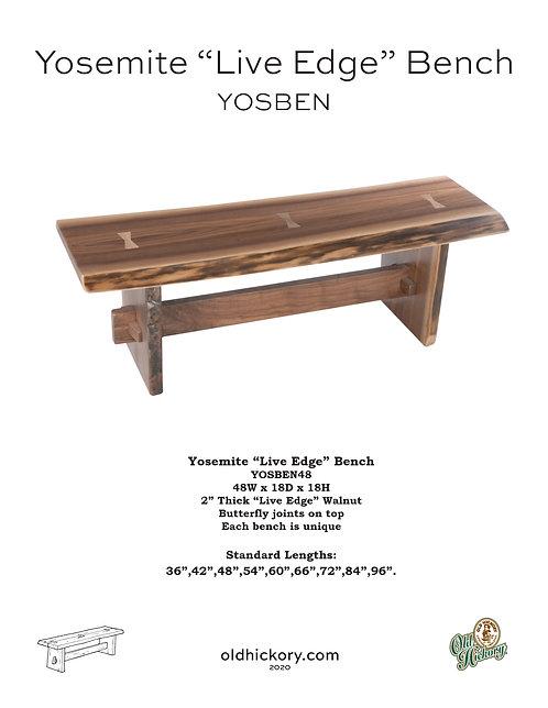 Yosemite Bench - YOSBEN