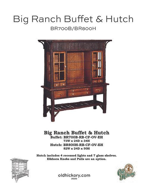 Big Ranch Buffet & China Hutch - BR700B/BR800H