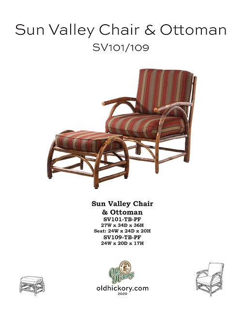 Sun Valley Chair & Ottoman - SV101/SV109