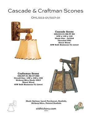 Cascade & Craftsman Scones - OHL503-01/OHL507-01