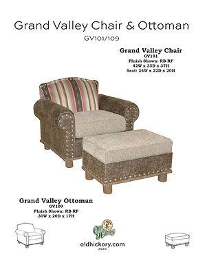 Grand Valley Chair & Ottoman - GV101/GV109