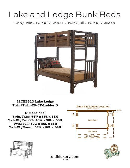 Lake & Lodge Bunk Beds - LLCBB313