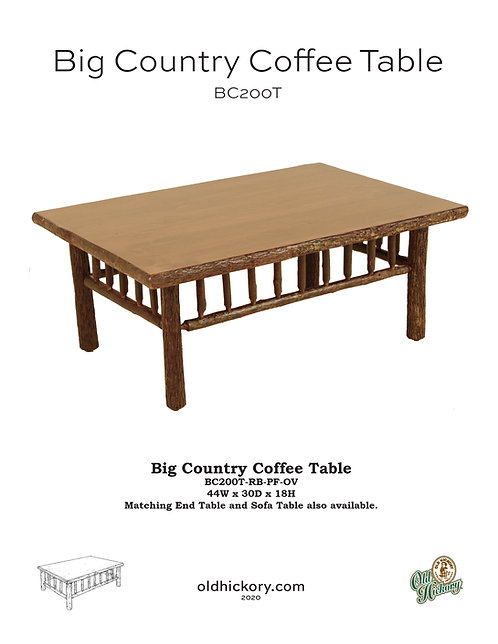 Big Country Coffee Table - BC200T