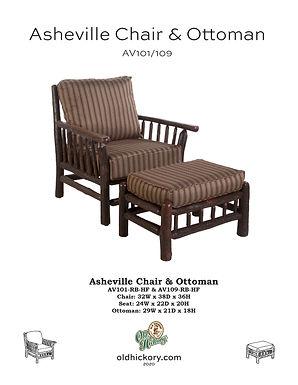 Asheville Chair & Ottoman - AV101/AV109