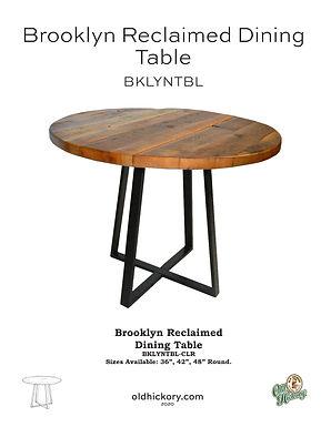 Brooklyn Reclaimed Dining Table - BKLYNTBL