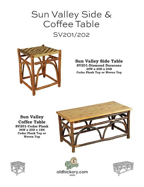 Sun Valley Side & Coffee Table - SV201/SV202