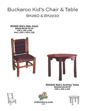Buckaroo Kid's Chair & Table