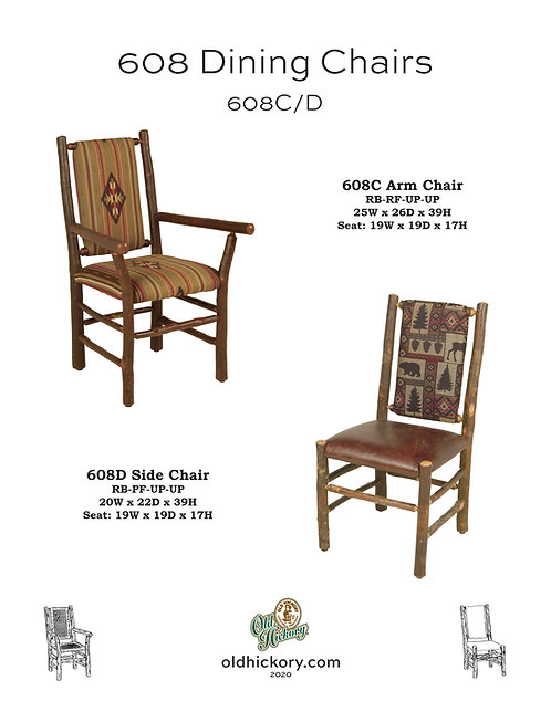 608 Dining Chairs - 608C/608D