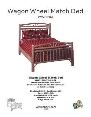 Wagon Wheel Bed - WW313M