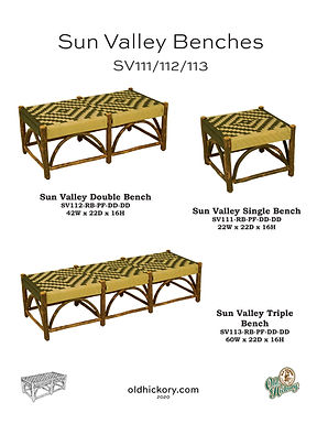 Sun Valley Benches - SV111/112/113