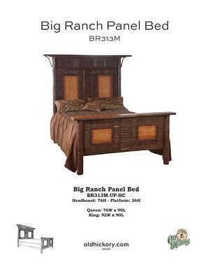 Big Ranch Panel Bed - BR313M