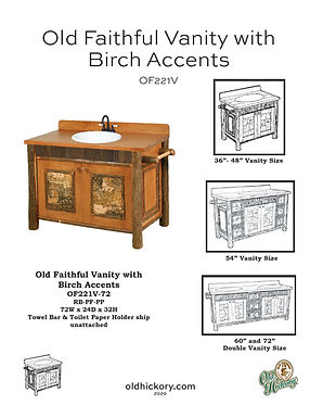 Old Faithful Vanity with Birch Accents - OF221V