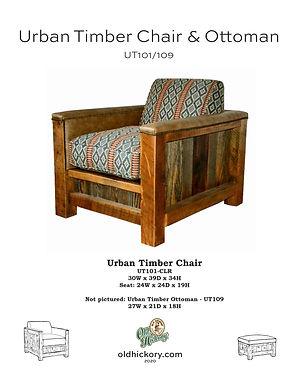 Urban Timber Chair & Ottoman - UT101/UT109