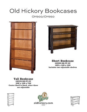 Old Hickory Bookcases - OH900/OH950