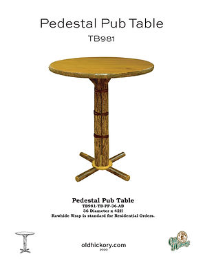 Pedestal Pub Table - TB981