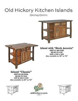 Old Hickory Kitchen Islands - OH710/OH711