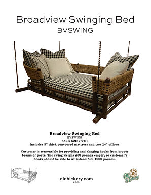 Broadview Swinging Bed - BVSWING