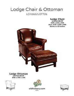Lodge Chair & Ottoman - LCH360/LOTT26