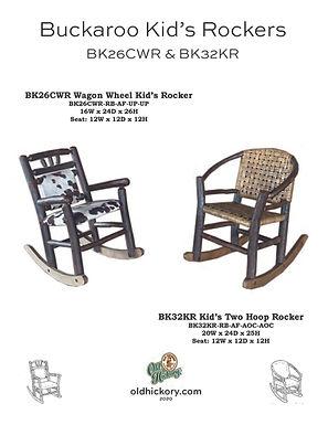 Buckaroo Kid's Rockers - BK26CWR & BK32KR