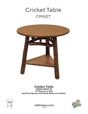 Cricket Table - CRIKET