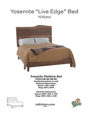 "Yosemite ""Live Edge"" Bed - YOS313M"