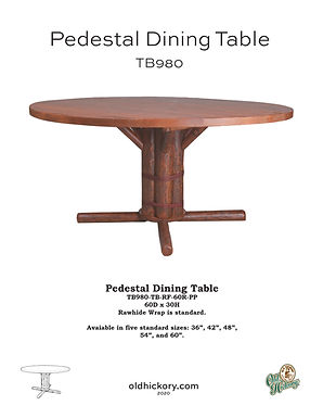 Pedestal Dining Table - TB980