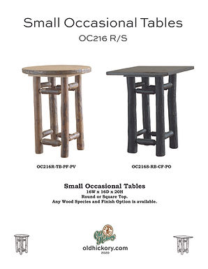 Small Occasional Tables - OC216R/OC216S