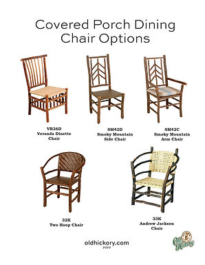 Covered Porch Dining Chair Options