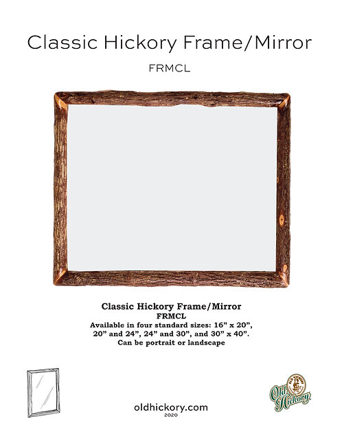 Classic Hickory Frame/Mirror - FRMCL