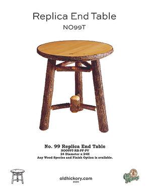 No. 99T Replica End Table - NO99T