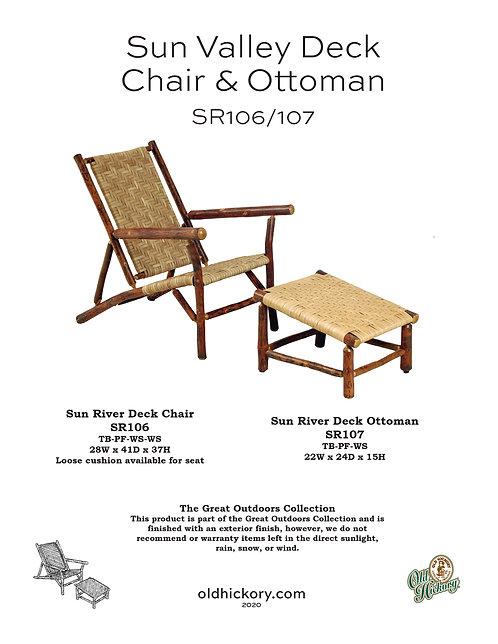 Sun Valley Deck Chair & Ottoman - SR106/SR107