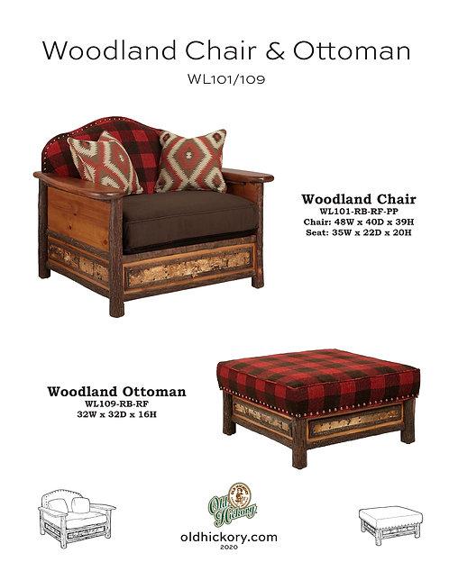 Woodland Chair & Ottoman - WL101/WL109