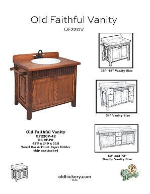 Old Faithful Vanity - OF220V