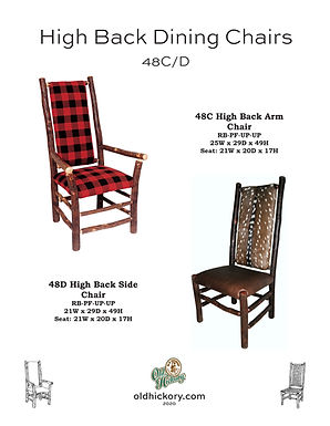 High Back Dining Chairs - 48C/48D