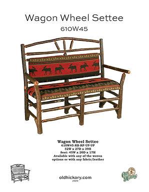 Wagon Wheel Settee - 610W45